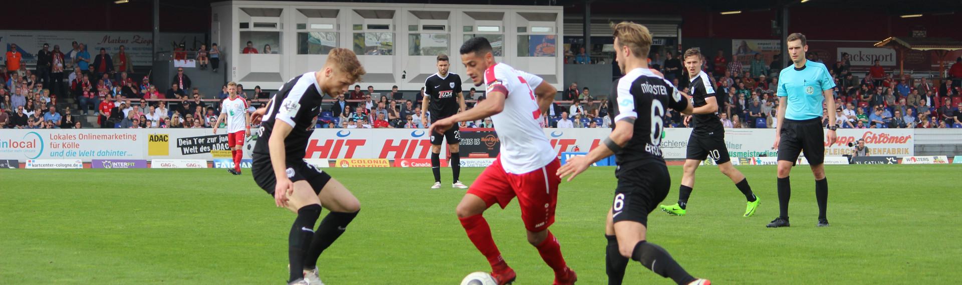 Erstes Heimspiel gegen Münster